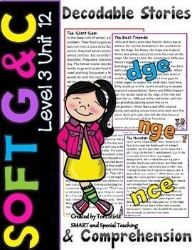 Soft C and Soft G Reading Passages & Comprehension Questions Level 3 Unit 12