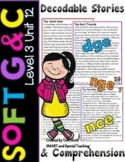 Decodable reader with soft c and g & Comprehension Questions Level 3 Unit 12