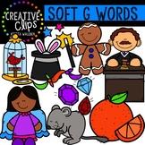 Soft G Clipart {Creative Clips Digital Clipart}