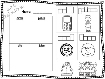 Soft G and C Read-and-Draw Bundle! [4 activities]