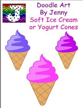 Soft Ice Cream or Yogurt Cones