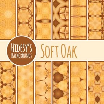 Soft Oak Wooden Backgrounds / Digital Papers Clip Art Set Commercial Use