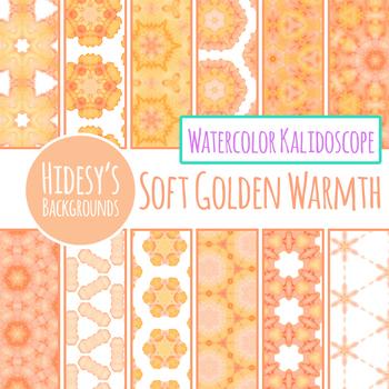 Soft Orange Watercolor Digital Paper Backgrounds Clip Art Commercial Use