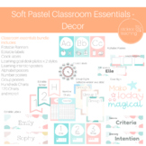 Soft Pastel Classroom Essentials Decor Pack