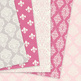 28 Soft Pink and grey Damask Digital Paper patterns girly scrapbook background