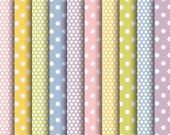 Soft Polkadot Papers, Soft, Polka, Dot, Set #250