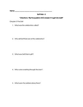 Soft Rain Comprehension Questions