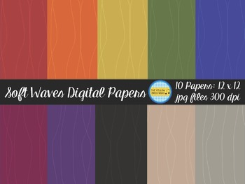 Soft Waves Digital Papers