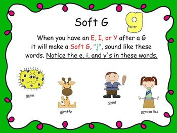 Soft and Hard C & G Multi-Syllable Words  Smart Notebook & Worksheet Mini Lesson
