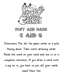 Soft and Hard C and G Angry Birds