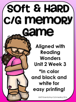 Soft and Hard c/g Memory Game---Aligned with Reading Wonde