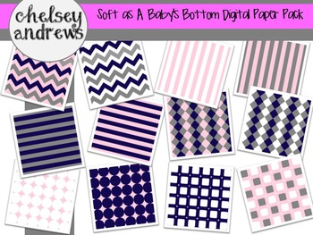Soft as a Baby's Bottom Digital Paper Pack {Personal and Commercial Use}