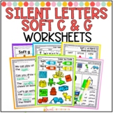 Soft c, Soft g, and Silent Letters Worksheets Distance Learning