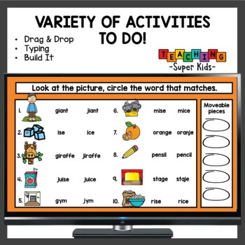 Soft c and Soft g Word Working Activities