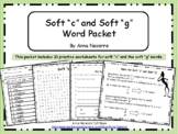 """Soft """"c"""" and Soft """"g"""" Word Packet"""