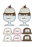 Soft c hard c practice with ice cream