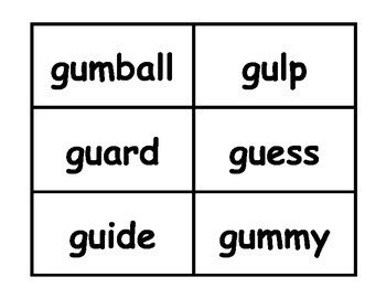 Soft g and Hard g Sort Workstation Game or Small Group Activity