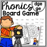 dge and ge Phonics Activity For Reading Fluency and Accuracy