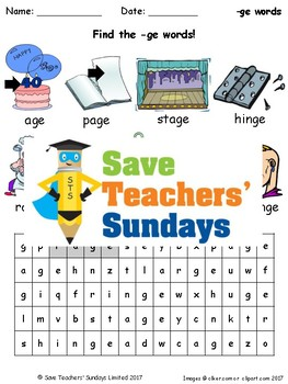 Soft g (-ge and -dge) Lesson Plans, Worksheets and Other Teaching Resources