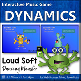 Music Dynamics Loud and Soft Interactive Music Game {Monsters}