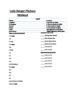 Coaching: Softball/Baseball- Pitchers Bullpen Session Workout