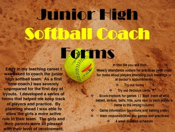 Softball Coach Forms