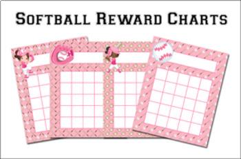 Softball Incentive Reward Charts