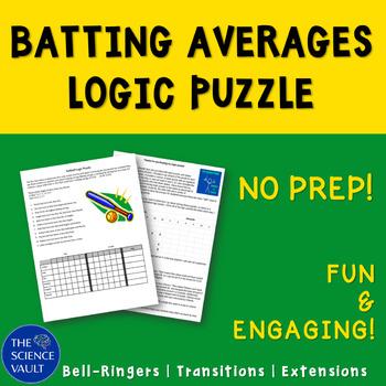 Softball Statistics Logic Puzzle, Critical Thinking, Calculating Batting Average