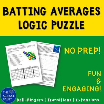 Softball Statistics Logic Puzzle, Critical Thinking, Calcu