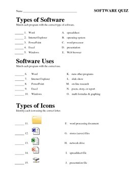 Software Study Guide and Quiz