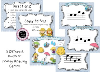 Soggy Solfege-- Interactive Melody Reading BUNDLE of 5 Games