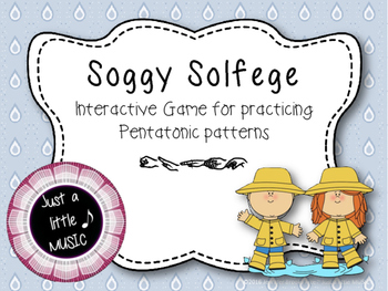 Soggy Solfege-- Interactive Melody Reading Practice Game {pentatonic}