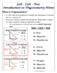 Right Triangles -Soh Cah Toa (Sin, Cos, Tan) Intro To Trigonometry Notes & Prac.