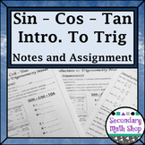 Right Triangles -Soh Cah Toa (Sin, Cos, Tan) Intro To Trig