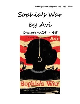 Sohpia's War - Part 2 Lesson Plan/Assessment/Writing