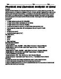 Soil Analysis (Forensic Geology) - Analysis of Sand Lab Activity