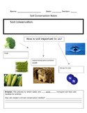 Soil Conservation Graphic Organizer