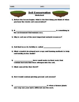Soil Conservation Worksheet