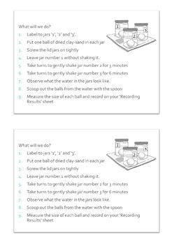 Soil Experiment Worksheets