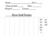 Soil Formation Vocabulary Flip Book