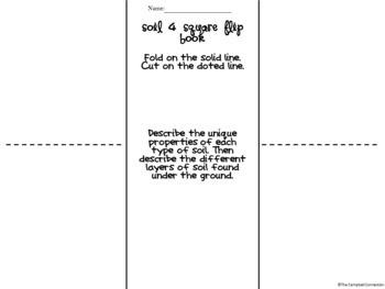 Soil 4 Square Flip Book Freebie