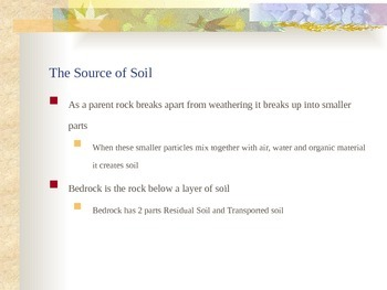 Soil - From Bedrock to Soil