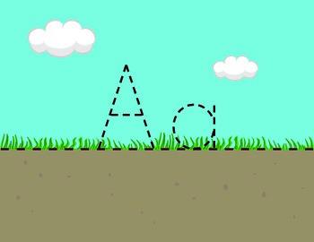 Soil, Grass, Sky Letter Formation Guide