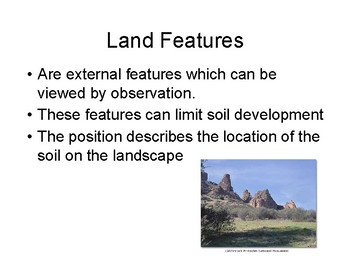 Soil Judging (Iowa) Landscape Features and Slope Powerpoint