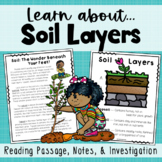 SOL 3.7 Soil Layers {Reading Passages, Anchor Chart, Notes, Vocabulary}