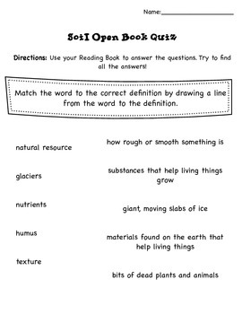 Soil Pearson Reading Street Unit 4.3 Second Grade CCSS Activity Packet