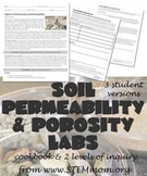 Soil Permeability and Porosity Lab -- Three Versions