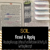 Soil Reading Comprehension Interactive Notebook