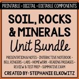 Soil, Rocks and Minerals Unit Bundle