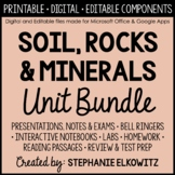 Soil, Rocks and Minerals Unit Bundle - Distance Learning